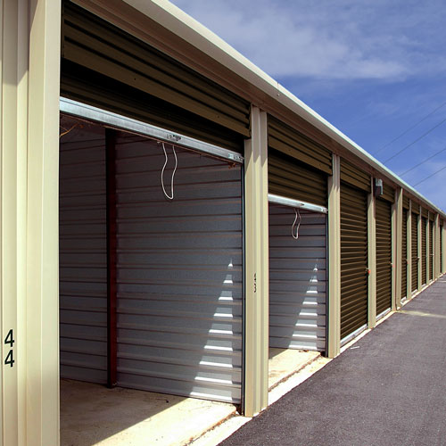 Photograph of self storage units outside