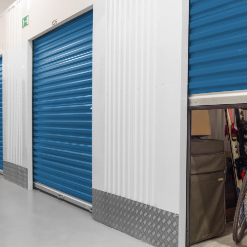 Photograph of climate-controlled self storage units