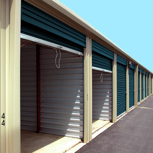 Photograph of outdoor self storage units
